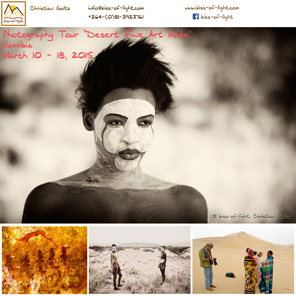 Come and join a small group of international photographers for this extraordinary photo tour - The Desert Fine Art Nude! Contact me for more info.