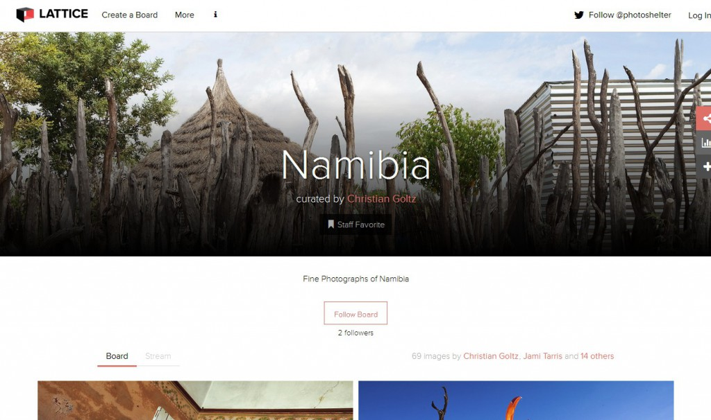 Fine Namibia Photographs on Photoshelter presented on lattice.
